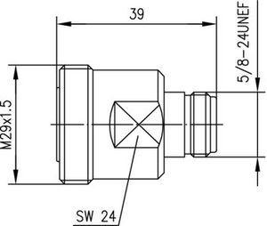 Междусерийный ВЧ адаптер J01122A0008