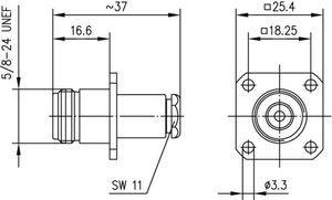 Разъем для полужёстких кабелей J01021H0085