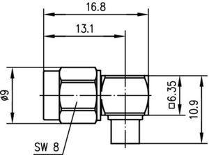 Разъем для полужёстких кабелей J01150A0151