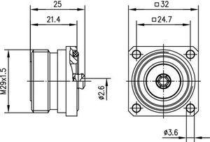 Разъем для фидерных кабелей J01121B0114