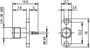 Разъем панельный J01151A0149