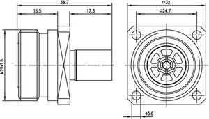 Разъем для гибких кабелей J01121A0144