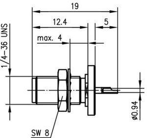 Разъем панельный J01151A0021