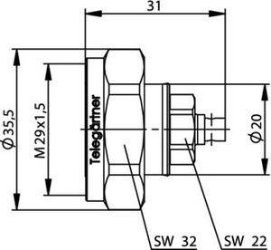 Разъем для полужёстких кабелей J01120C0074