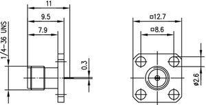 Разъем панельный J01151A0851