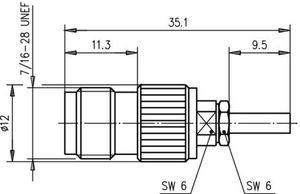 Разъем для гибких кабелей J01011A2287
