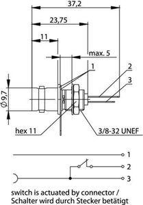 Разъем панельный J01001B0042