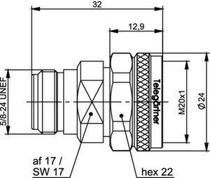 Междусерийный ВЧ адаптер J01027A0023