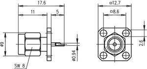Разъем панельный J01150A0191
