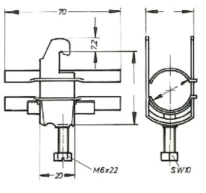Устройство крепления фидера HCH-300-1C