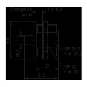 Разъем для полужёстких кабелей BN 807733