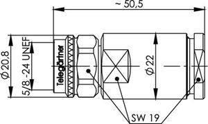 Разъем для полужёстких кабелей J01020C0062
