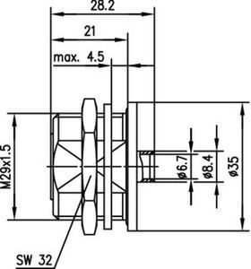 Разъем для фидерных кабелей J01121B0120