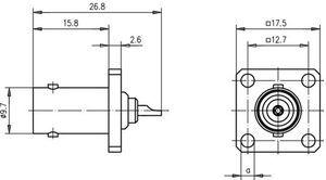 Разъем панельный J01001A0698