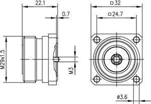 Разъем для фидерных кабелей J01121A0174