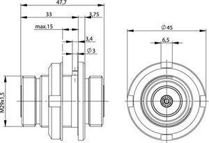 Внутрисерийный ВЧ адаптер J01023C0003