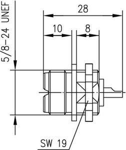 Разъем панельный J01041A0001