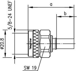 Разъем для полужёстких кабелей J01020A0112