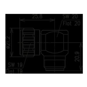Внутрисерийный ВЧ адаптер BN 299750