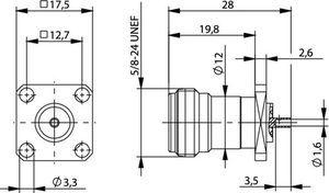 Разъем панельный J01021C0007