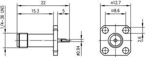 Разъем панельный J01151A0161