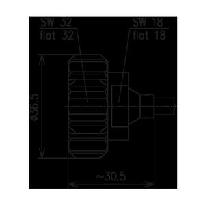 Разъем для полужёстких кабелей BN 807621