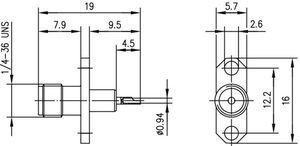 Разъем панельный J01151A0151