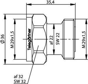 Внутрисерийный ВЧ адаптер J01023B0006